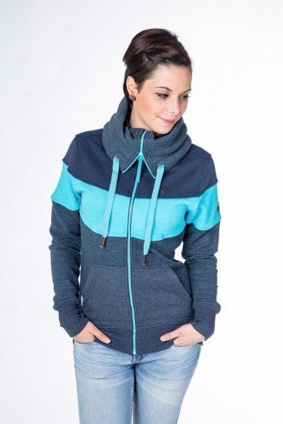 Sweat Jacke Sunshine blau
