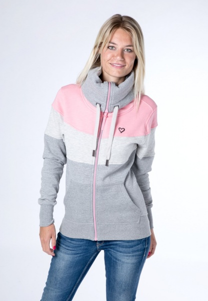Sweat Jacke Sunshine Grey-Pink