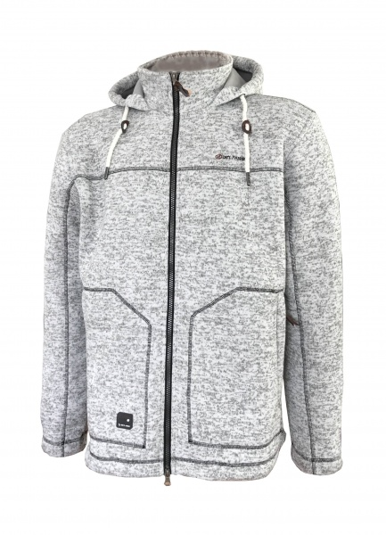 Woll Fleece Jacke Pellworm Grey Dry Fashion