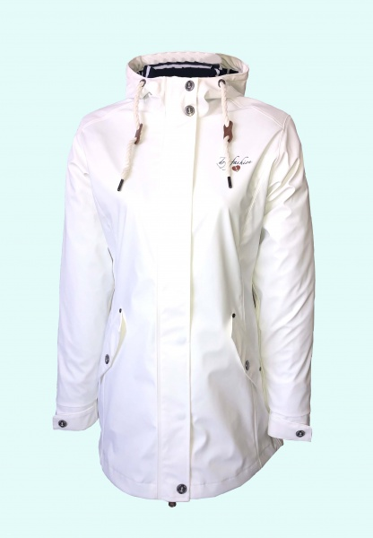 Dry Fashion PU Mantel Kiel Weiß