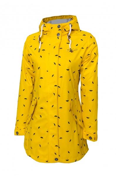 PU Mantel Wyk Gelb Dry Fashion