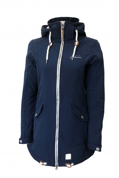Damen Softshell Mantel List Navy
