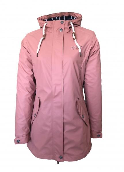 Dry Fashion PU Mantel Kiel Altrosa